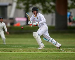Premier batsman Michael Ruffell vs Eden Roskill